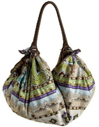 ECHO Paisley Print Hobo - Handbags