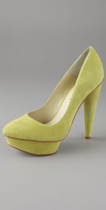 Elizabeth And James Mason Suede Platform Pumps - Heels