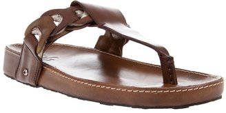 D&G - Leather thong sandals - Men's Thong Sandals