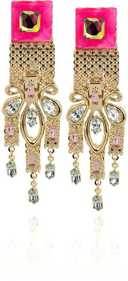 Erickson Beamon Disco Swarovski crystal clip-on earrings - Dangle Earrings