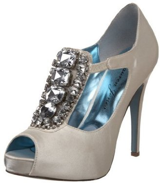 Lauren Jones Women's Angel T-Strap Open Toe Pump - Shoes