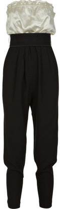 Tibi High-waisted tuxedo jumpsuit - Lindsay Lohan Jailbird Chic