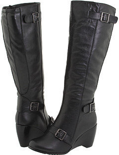 Fitzwell - Fallara II/Wide Calf (Black Tumbled Leather) - Tall Boots For Big Calves