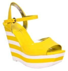 Jessica Simpson - Yellow Patent Bobcaty Wedge - Jessica Simpson Style