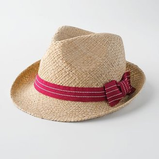 Candie&#39;s stitched straw fedora - Fashion Hats For Women
