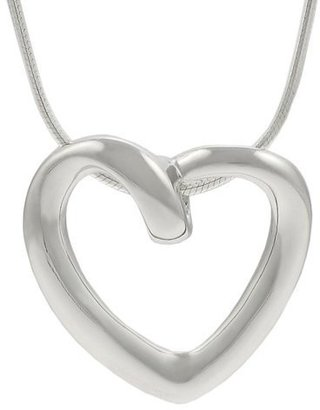 Sterling Silver Heart Necklace - Silver - Jewelry