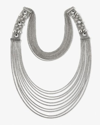 Long Silvertone Chain Necklace - Jewelry