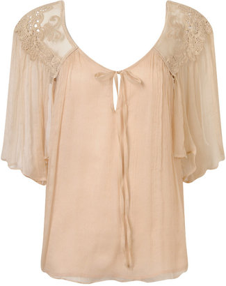 Crepe Silk Flowy Top - What to Wear to Tea with Taraji P. Henson