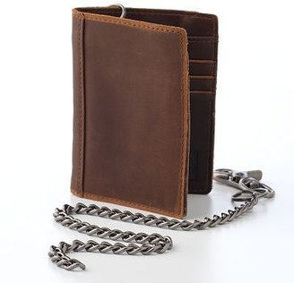 Levi&#39;s leather bifold wallet and chain set - Dress Like David Beckham 