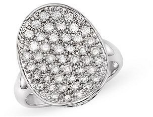 1 Carat Diamond 14K White Gold Ring - Diamond Ring