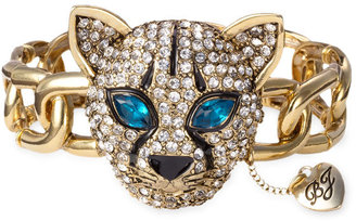 Betsey Johnson &#39;Jungle Cat&#39; Pav Stretch Bracelet - Pouncing Panther Jewels 