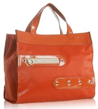 Chloe coral coated canvas oversized grommet tote - Handbags