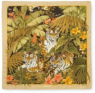 Salvatore Ferragamo &quot;Boys&quot; Silk Scarf, 35&quot; square - Salvatore Ferragamo