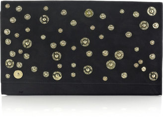Mulberry Oversized Ava suede clutch - Mulberry