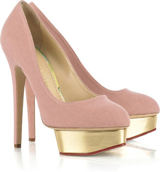 Charlotte Olympia Dolly canvas pumps - Charlotte Olympia Shoes