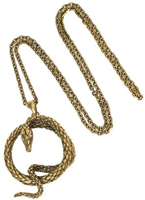 Gold Serpent Pendant - Gold Pendant Necklaces