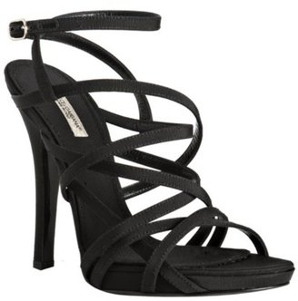 Dolce &amp; Gabbana black grosgrain strappy sandals - Dolce &amp; Gabbana