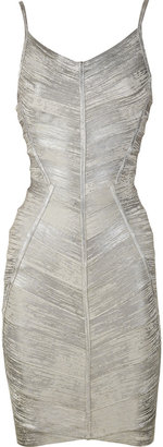 Herv Lger Metallic bandage dress - Herve Leger
