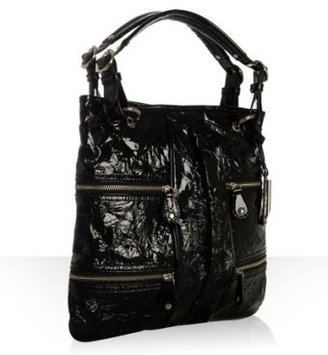 Via Spiga black patent leather &#39;Lustra&#39; zip flat tote - Via Spiga