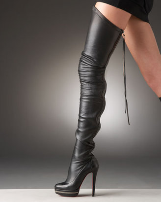 Christian Louboutin Zip-Back Over-the-Knee Boot - Christian Louboutin