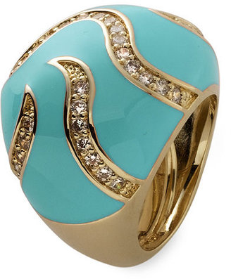 Ariella Collection Enamel Dome Adjustable Ring - Jewelry