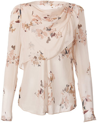 Vanessa Bruno Nude Printed Silk Top - Vanessa Bruno