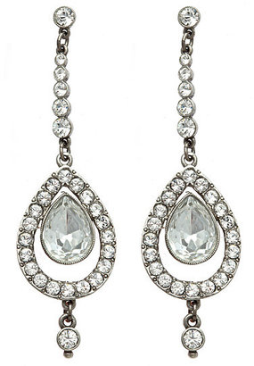 Ben-Amun Large Double Teardrop Crystal Earrings - Jewelry