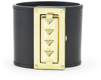 Leather Pyramid Cuff - Jewelry