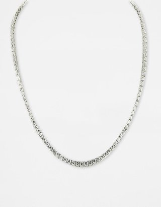 Crislu Platinum-Finished Cubic Zirconia Tennis Necklace - Tennis Necklaces
