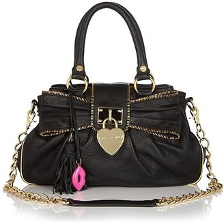 Betsey Johnson Heart of Gold Leather Satchel - Satchel