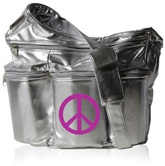 Silver Diva w/ Peace Diaper Bag - Diaper Bags