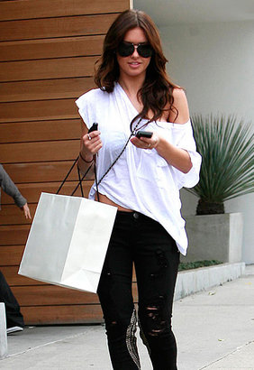Daft Bird Sheer Oversized Crop Tee in 4 Colors - as seen on Audrina Patridge - Singer22