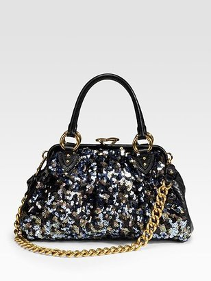 Marc Jacobs Tweed Sequins Stam Satchel - Handbags