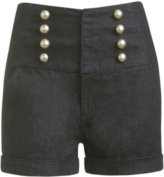 High Waist Denim Sailor Short - Shop Lauren Conrad&#39;s Classic Look