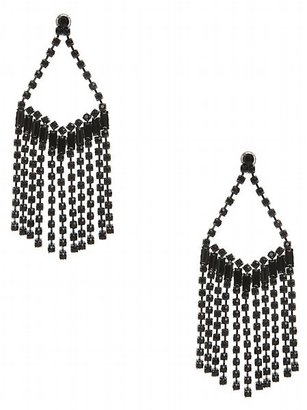 Fringe Stone Chandelier Earrings - Guess