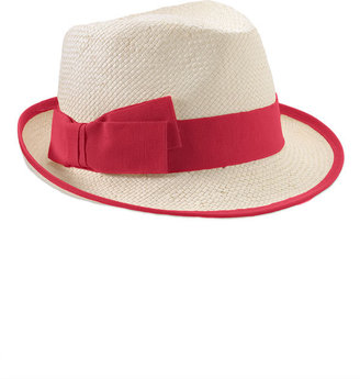 Nordstrom Grosgrain Border Straw Fedora - Fedora