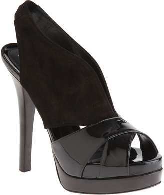 Fendi Cut-Out Slingback - Black - Heels