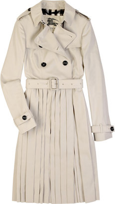 Burberry Cotton pleated skirt trench - Timeless Trench  Coats