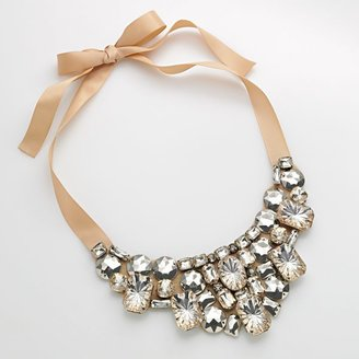 Candie&#39;s silver-tone simulated crystal bib necklace - Jewelry