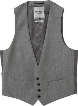 Grey 4 Button Waistcoat - Dress Like Chuck Bass