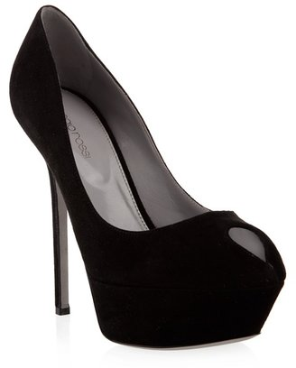 SERGIO ROSSI - Suede platform pumps - Dress Like a Celebrity