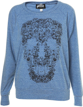 Floral Skull Raglan by Illustrated People** - Sweatshirt
