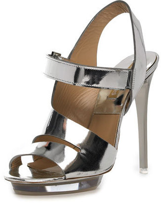 Michael Kors Cutout Sandal, Silver - Michael Kors