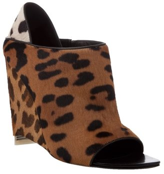 ALEXANDER WANG - &#39;Alla&#39; leopard-print wedge mule - The Best of Alexander Wang Shoes