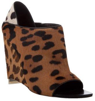 ALEXANDER WANG - 'Alla' leopard-print wedge mule - Animal Instinct