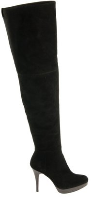 STUART WEITZMAN - Over-the-knee suede boot - Sweater Dress and Thigh-High Boots