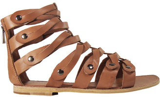 Sigerson Morrison Gladiator Sandal In Toffee - The Gladiator Shoe