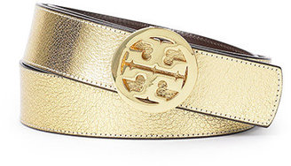 Metallic Reversible Logo Belt - Accessories