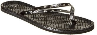 Women&#39;s Mossimo Lorelle Faux Snake Flip Flops - Black - Shoes