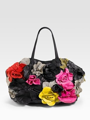 Valentino Summer Flower Tote - Handbags